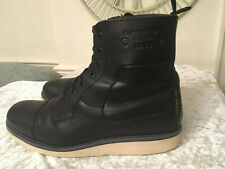 "Mens Black Leather Boots By""G STAR RAW"" size 7uk(41)"