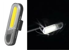 front 7 led USB rechargeable white light - bright lights lamp 5 modes flashing
