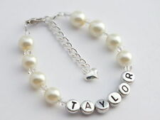 Silver Plated Love & Hearts Beaded Costume Bracelets