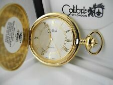 Watch W/Shield New Reduced Colibri White Face Goldtone Pocket