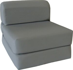 Flip Chair Folding Foam Beds, Foldable Guest Sofa Bed, Couch 6x24x70, Gray