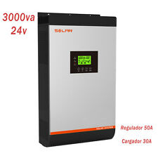 Converter 3kva 2400w Wave Pure Regulator 50Amp Charger 30Amp 24v to 230v