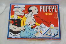 1933 Tin Popeye Paints Set Looks Unused The American Crayon Company