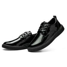 Mens Casual Platform Patent Leather Lace Up Outside Shoes Work Platform Shoes Us