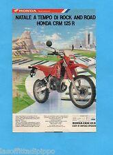 TOP989-PUBBLICITA'/ADVERTISING-1989- HONDA CRM 125 R