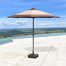 NEW 9'FT Solar 24 LED Lights Patio Umbrella Garden Outdoor Sunshade Market