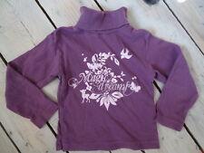 T-shirt manches longues col roulé violet lie de vin imprimé TASSAIA Taille 4ans