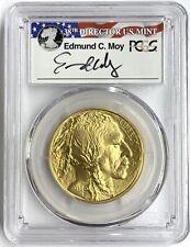 2016 $50 1 oz American Gold Buffalo PCGS MS70 First Strike 10th Ann Edmund Moy