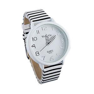 Ladies Womens Unisex Watches Quartz Analogue Wrist Watch White Zebra Design
