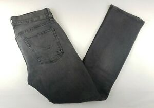 HUDSON Jeans BYRON Gray black wash Slim Straight Button Fly mens 32 X 31
