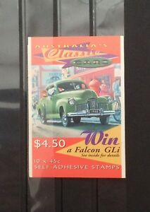 Australia 1997 Classic Cars Booklet MNH