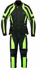 RKSports Motorbike Waterproof Yellow Suit Combo Textile Trousers +Jacket CE Mens