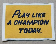 """NOTRE DAME PLAY LIKE A CHAMPION TODAY 2""""×3"""" CLOTH PATCH FREE SHIPPING"""