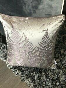 Hannah Williamson | 45cm Square Embroidered Fern Cushion - Kai, Vista, Amethyst