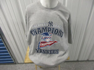 VINTAGE LEE SPORT NEW YORK YANKEES 1998 AMERICAN LEAGUE CHAMPIONS 2XL SHIRT NWOT