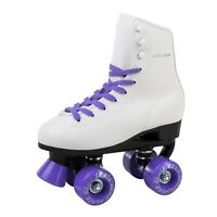 Skate Gear Soft Boot Roller Skate Retro High Top Design Indoor Outdoor Purple
