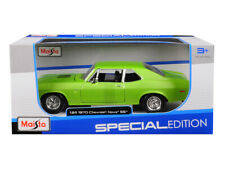 1970 Chevrolet Nova SS Coupe Green 1/24 Scale Diecast Car Model By Maisto 31262