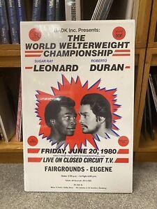 "Vintage Duran vs Sugar Ray Leonard ""Brawl In Montreal"" June 1980 Boxing Poster"