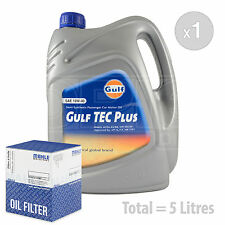 Engine Oil and Filter Service Kit 5 LITRES Gulf Tec Plus 10w-40 semi-syn. 5L