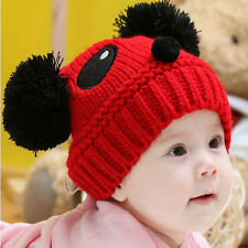 Baby Kids Girls Boys Warm Winter Panda Cap Newborn Toodler Knit Beanie Hat