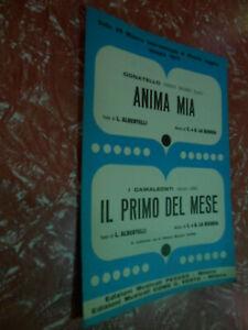spartiti musicali vintage-ANIMA MIA DONATELLO-IL PRIMO DEL MESE-CAMALEONTI-PEGAS