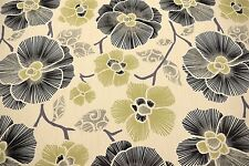 100% Cotton Canvas Duck Green Tropical Floral Upholstery Drapery Print Fabric