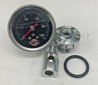 HONDA CB750 OIL PRESSURE GAUGE chopper bobber cafe cb 750 sohc stainless black