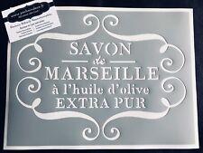 Pochoir Adhésif Réutilisable 30 x 20 cm Affiche Ancienne Savon De Marseille