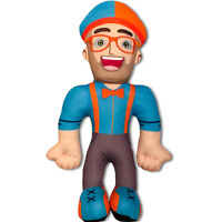 28CM Blippi Plush Figure Toy Soft Stuffed Doll for Kid Gift Hat Cap Cartoon Xmas