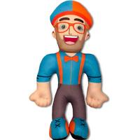 11 inch Blippi Plush Figure Toy Soft Stuffed Doll for Kids Gift Hat Cap Cartoon