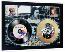 DJ AVICII True Stories Mini LP and Mini Gold LP Vinyl Signed Framed