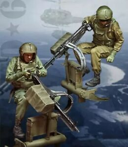 1/35 Resin Figure Model Kit Vietnam War US Soldiers no Gun Unpainted Unassambled