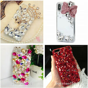 For Samsung S10 S10+ S9+ Luxury Bling Diamonds Rhinestones Jewelled Case Cover
