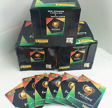 Panini Euro 2004 Soccer Mini Stickers 3 boxes (108 packs) + 6 Mini Albums-Value