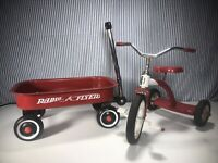 Mini Radio Flyer Red Wagon And Mini Road Master Tricycle For Display #48