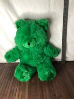 "Mervyn's Vintage Green Teddy Bear No Sweater 15"" Plush Stuffed"