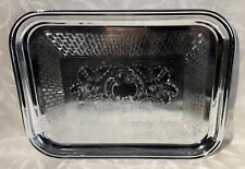 Swan Brand Chrome Plated Vintage / Retro Serving Tray. Lot #437
