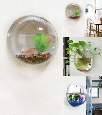 15*15cm Wall Mount Hanging Fish Bowl Aquarium Acrylic Tank Plant Beta For Decor