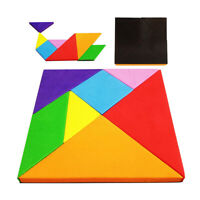 Magnetic Puzzle Tangram Game Learning Educational Drawing Board Games Wooden A8A