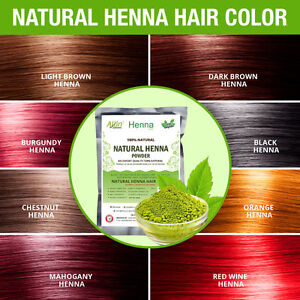 ALLIN Henna Hair Color - 100% Organic Chemical free Henna Hair Hair Care Natural