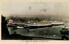 RPPC,Victoria,B.C.,Canada,C.P.R Docks & Office,Ocean Liners in Port,Used,1945