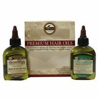 Difeel Premium Natural Hair Oil- Coconut Oil & Peppermint Oil 2.5oz 2PC SET