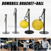 Weight Lifting Dumbbell Bracket Fitness Grip ball Dumbbell Holder Arm Exercise