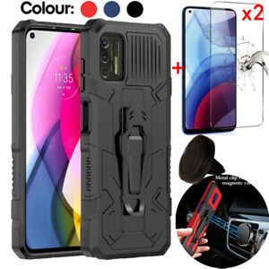 For Motorola Moto G Power/Play 2021/One 5G Ace Case+Screen Protector+Car Holder