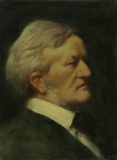 RICHARD WAGNER, COMPOSER - PORTRAIT BY ELIAS RIVERA - ORIGINAL OIL PAINTING