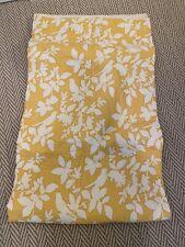Pottery Barn Yellow & White Bird Hawaiian Quilt King Size Quilt, 2 Euros, 2 Sham