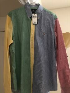 Polo Ralph Lauren Mens Multi Color Checkered Button Down NWT Size Large