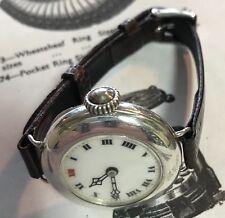 Early Silver ROLEX Wrist Watch 1917 Willsdorf & Davis Low Serial Number Working