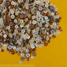 Sewing & Crafting Buttons 100 Grams (3.52 oz) per bag -Naturals/Creams Mix48/100