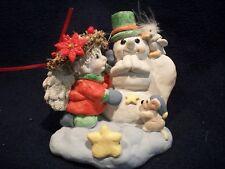 Dreamsicles Shelf Sitter Christmas Tree Stocking Holder Cast Art Kristin 1991